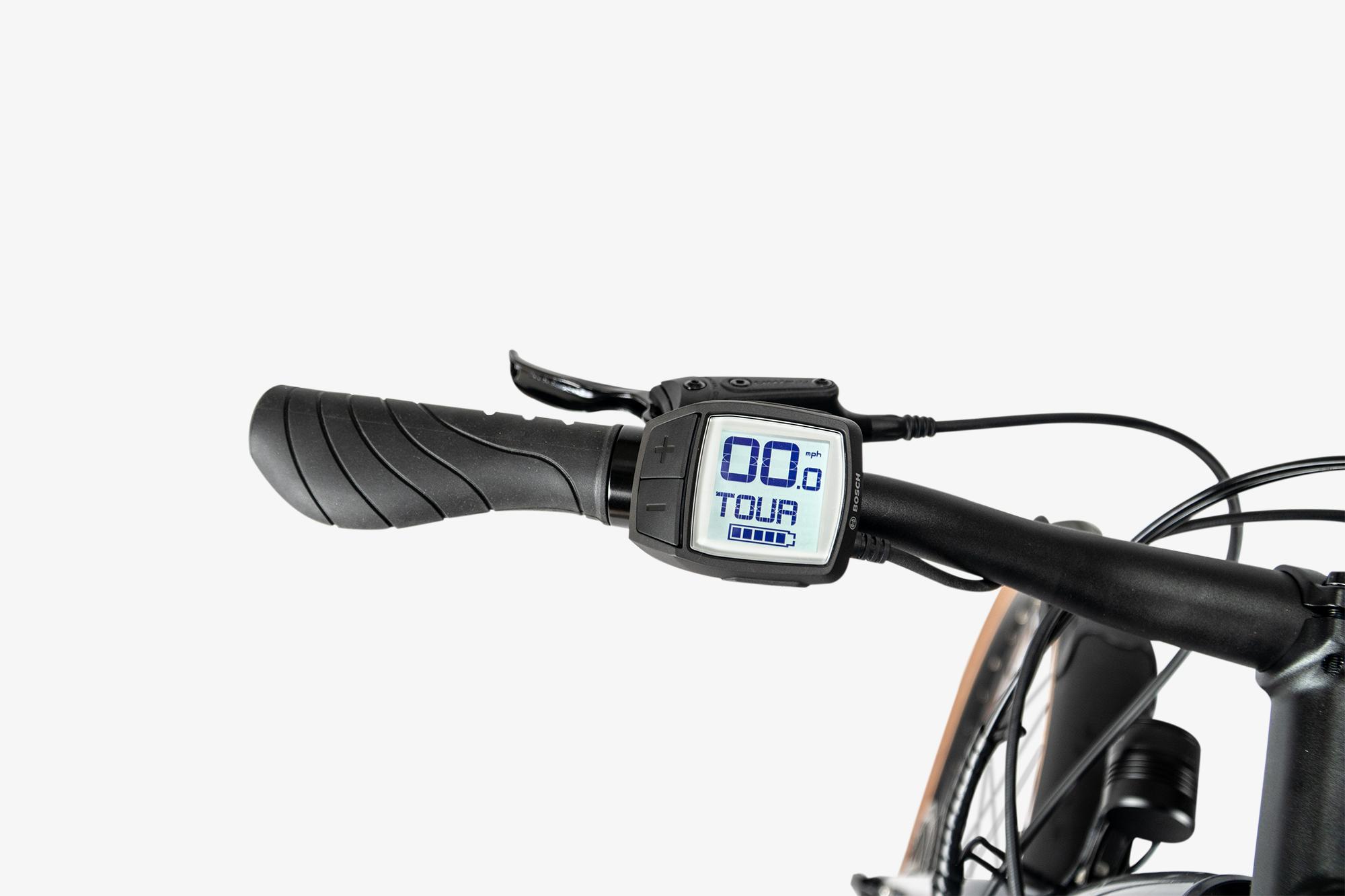 Bosch display on the Priority Embark electric bike