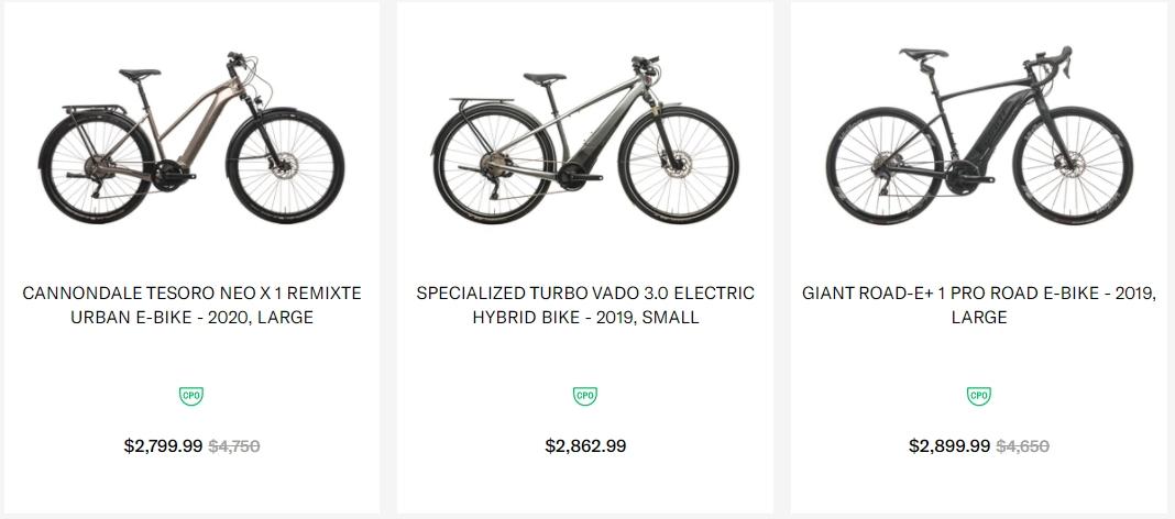 The Pro's Closet e-bike deals