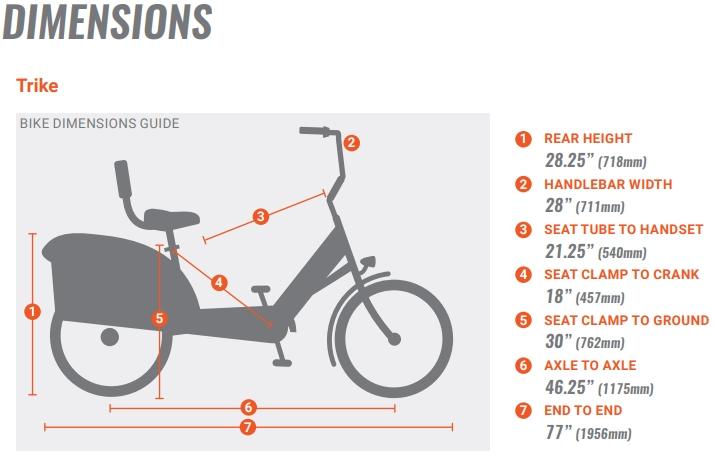 Pedego Trike Geometry Chart