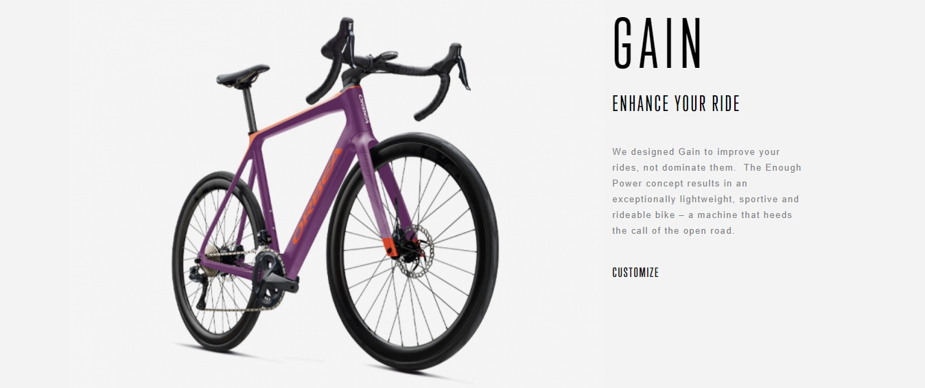 Orbea Personalized Bikes
