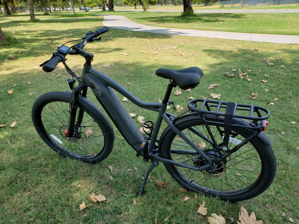 Ride1UP 700 e-bike standing in the park
