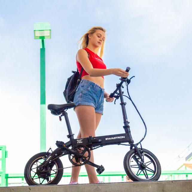 Swagtron Swagcycle EB-5 stylish e-bike