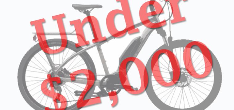 Best Electric Bikes Under $2,000