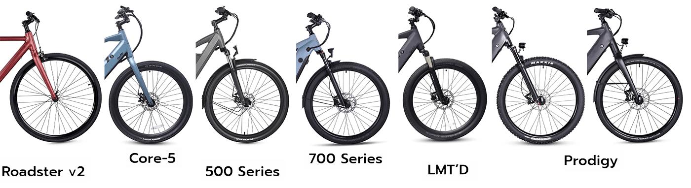 all ride1up e-bikes