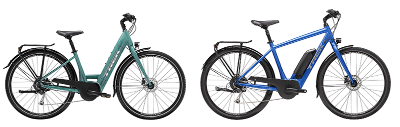 trek verve + series class 1 electric bikes